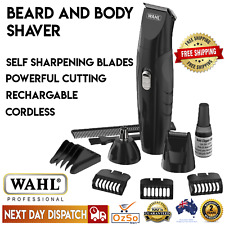 WAHL Cordless Beard Hair Clipper Shaver Trimmer Nose Ear Mens Grooming Electric