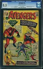 Avengers #2 CGC 8.5 1963 Iron Man! Thor! Hulk! BRIGHT COVER!! C3 103 cm clean