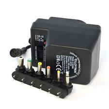 Lloytron A1506 300mA Unregulated AC/DC Multi-Voltage Adaptor 3-12Vdc 6 Tips New