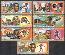 Guinea Ecuatorial 1972 Juegos Olímpicos/atletas/edificios/medalla de oro 7v Set n38016