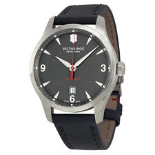 Victorinox Alliance Mechanical Automatic Black Dial Leather Mens Watch 241668
