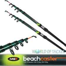 Telescopic Fishing Rod x2 Beachcaster 12ft Sea Beach Pier Travel Rods Pair