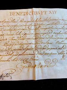 POPE BENEDICT XIV BULLA 1751