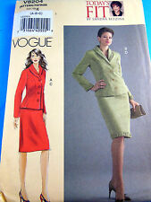 Uncut FFold Vogue Todays Fit Sandra Betzina Suit Jacket Skirt 8204 size 8 10 12