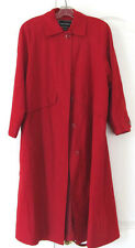 Gallery Red Flare Mid-Calf Long Raincoat Front Button Women 4