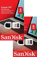SanDisk Cruzer Fit 8gb USB 2.0 Flash Mini Drive Sdcz33-008g 16gb Total