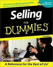 Selling for Dummies by Tom Hopkins (2001, Paperback)
