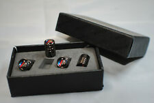 Premium Quality Stainless Steel Dust Caps In Titanium Grey With BMW M/Sport Logo
