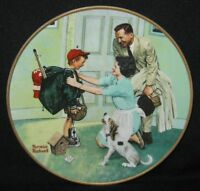 "1990 Norman Rockwell ""Home From Camp"" Plate No. 13394A Limited Edition 8 1/2""."