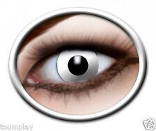 Zoe WHITE ZOMBIE lentille de couleur blanche lens contact halloween deguisement