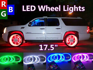 "JHB 17.5"" x4PCS SET IP68 Color Changing LEDs illuminated LED Wheel Rings Lights"