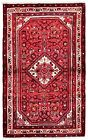 2.7 x 4 Hand Knotted Red Ivory Wool Nomadic Hamedan Tribal Oriental Area Rug