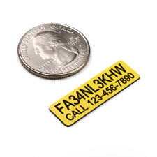 FAA DRONE REGISTRATION AND PHONE TAG STICKER