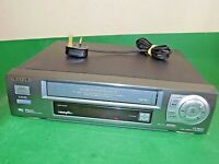 AIWA VCR VHS VIDEO CASSETTE RECORDER Vintage HV-FX2800 Silver Smart Fully Tested