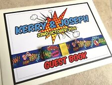 Pop Art | Comic Strip | Personalised Wedding Guest Book