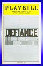 Playbill + Defiance +    Stephen Lang, Jeremy Strong, Trevor Long, Chris Bauer