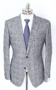 NWT CARUSO Giacca Gray Plaid Wool Alpaca Slim Sport Coat 52 8R 42 R fits 40