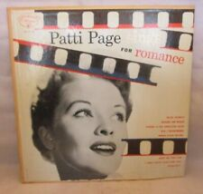 "PATTI PAGE Sings For Romance 10"" LP Mercury 1953"