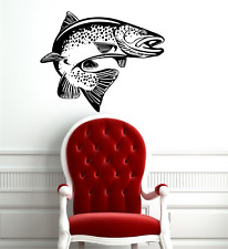 Wall Art Stickers Decals vinyl PIKE FISH SEA FRESH WATER LAKE RIVER FISHING