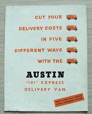 AUSTIN 101 EXPRESS VAN Sales Brochure April 1957 #1414A