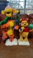Winnie The Pooh and Tigger Christmas Display Figures