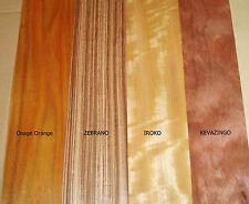 14 in vero legno impiallacciatura esotico Fogli Per Artigianato, intarsio, restauro, scatole,