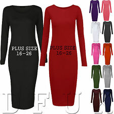 Women's Casual Crew Neck Plus Size Stretch, Bodycon Dresses