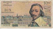 Billet de 10 Francs Richelieu type 1959- 1963 B
