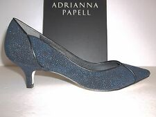 Adrianna Papell Size 8 M Lydia Blue Manta Leather Pumps Heels New Womens Shoes