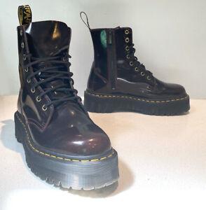 Dr Martens, Jadon, TALL, Classic 8-Eye Boot, Burgundy, 10L US, 42 EU, NEW! XLNT