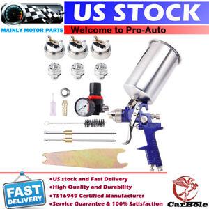 HVLP Air Spray Gun Kit Auto Paint Car Primer Detail Clearcoat w/ 1.4 1.7 2.5 Tip