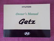 HYUNDAI GETZ (2002 - 2005) OWNERS MANUAL - OWNERS GUIDE - HANDBOOK.(AK 2)