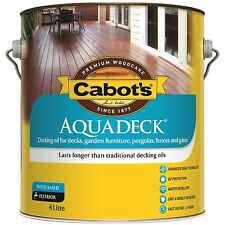 Cabot's Aquadeck DECKING OIL Exterior Water Based UV Protection MERBAU Brown 4L