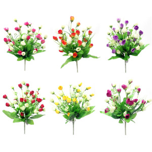 Beautiful Artificial Baby Tulip Bush / Bunch Yellow, Pink, Orange, Red, Purple