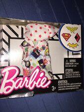 ~DC WONDER WOMAN, SUPERGIRL, BATGIRL~BARBIE Doll Clothing FASHION Pack SHIRT HTF