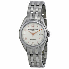 Baume and Mercier Clifton Silver Dial Stainless Steel Ladies Watch MOA10150