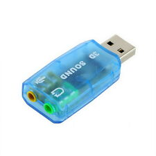 USB 1.1 Mic/Speaker Surround Sound 7.1 CH 3D Audio Card Adapter for PCLaptop YU