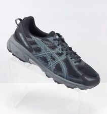 Asics Gel-Venture 6 Men's Trail Running Shoes Black/Phantom/Mid Grey Size 10.5