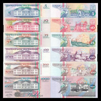 Suriname 6 PCS Set (5,10,25,100,500,1000 Gulden),  P136-141 , UNC