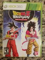 Dragon Ball Z: Budokai HD Collection (Microsoft Xbox 360, 2012) Bandai Game RARE