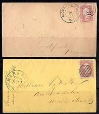 US 1867 FANCY CANCELS MARSHALL MICHIGAN & MOUNT MORRIS, NEW YORK TYING Sc. #65