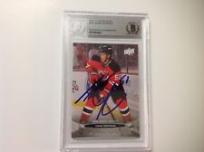Adam Henrique Signed UD Upper Deck Young Guns Card RC Beckett BAS BGS b