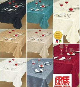 Premium Luxury Damask Fabric Table Cloth All Sizes & Shapes, Top Quality Classic