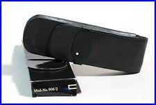 MONTBLANC elegant SIENA BLACK Leather pouch, etui for 2 LARGE fountain pencils