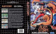 Alien STORM PAL NTSC NTSC-J SEGA MEGADRIVE reemplazo Arte caso Inserto Para Caja