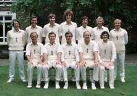 OLD LARGE CRICKET PHOTO England 1st Test Match team England v Australia 1977