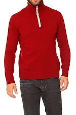 Feine Herren-Pullover mit Norweger-Muster und Reißverschluss