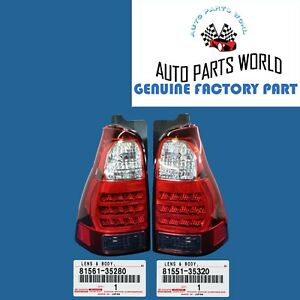 GENUINE OEM TOYOTA 06-09 4RUNNER LEFT & RIGHT REAR COMBINATION LAMP LENS SET