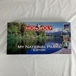 Monopoly My National Parks Edition (2008) new -Sealed Pieces! Unique Board Game