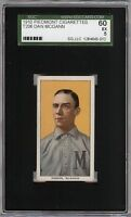 Rare 1909-11 T206 Dan McGann Piedmont 350 Milwaukee Minor League SGC 60 / 5 EX